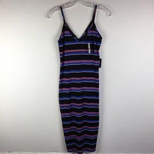 NWT EXPRESS Striped Midi Stretch Dress